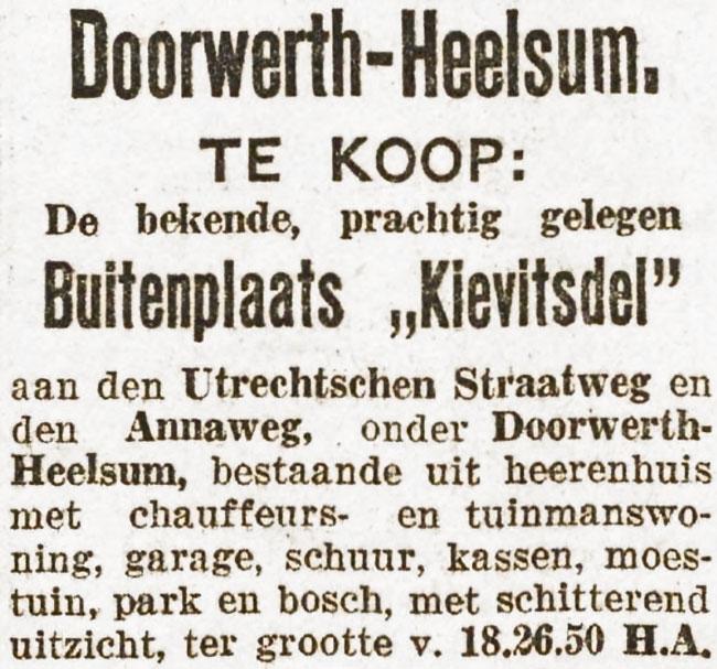 Kievitsdel Doorwerth