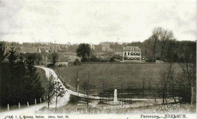 Huis Heelsum vanaf de kerk rond 1904
