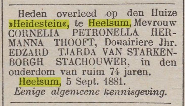 Heidestein Heelsum
