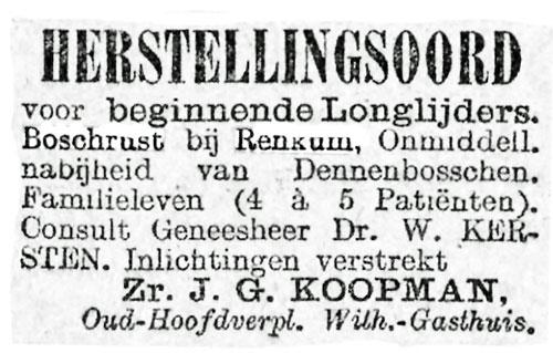 Huize Boschrust Renkum in 1904