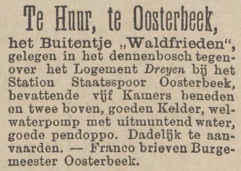 Waldfrieden Oosterbeek