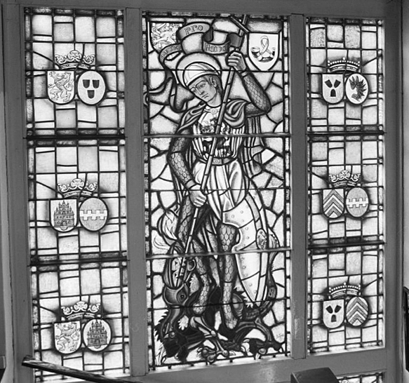Raam van het oude Klooster Stella Duce in Jacoher,