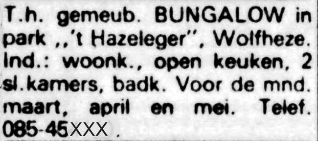 Hazeleger Wolfheze