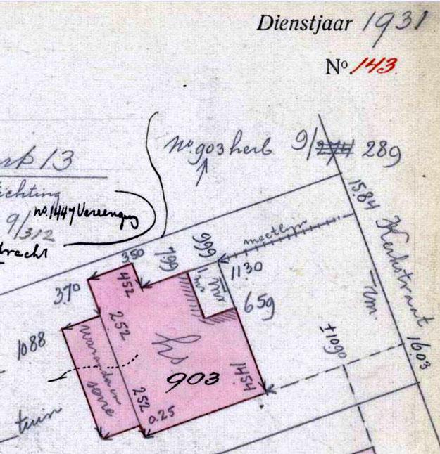 Veldwerkkaart kadaster 1930