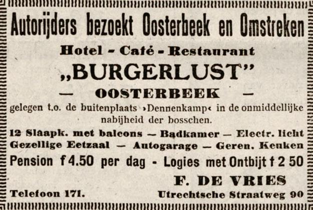 Burgerlust Oosterbeek