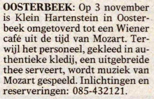Klein Hartenstein Oosterbeek