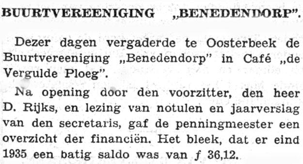 Oosterbeek Vergulde Ploeg