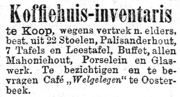 Oosterbeek cafe Welgelegen