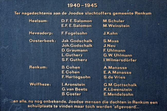 Joodse oorlogsslachtoffers Renkum